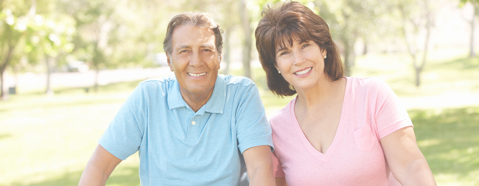 Happy middle age couple